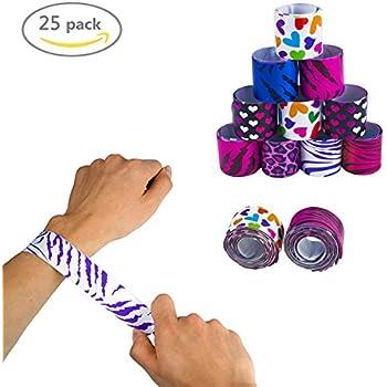 amazoncom youngzee print slap bracelets with coloful