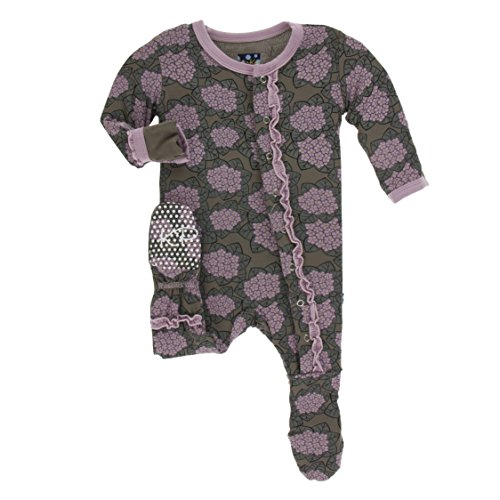 KicKee Pants Baby-girls Newborn Print Ruffle Footie