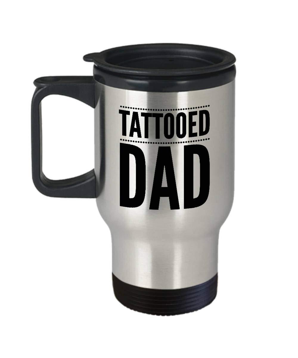 Taza, diseño de tatuaje de papá, taza de viaje de acero inoxidable ...