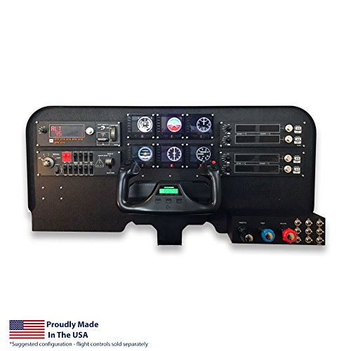 Flight Velocity Mid Profile Cockpit Panel Compatible with Saitek/Logitech G Flight Sim Hardware