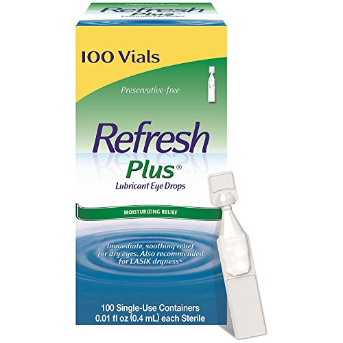 Allergan Refresh Plus Lubricant Eye Drops, Value Special Pack of 2 (200 Count Total )