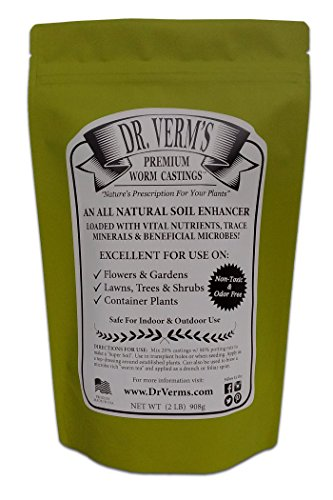 Hydroponic Soil - Dr. Verm's Premium Worm Castings - Organic Soil Builder and Fertilizer (2 LB)