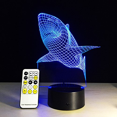 Circle-Circle-Colorful-Gradients-3D-Amazing-Shark-Optical-Illusion-LED-Lamp-7-Colors-Changing-Touch-Button-and-15-Keys-Remote-Control-for-Children-Kids