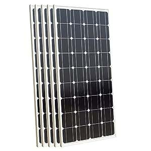 500W 5pcs 100W alta eficiencia Off Grid/sobre cuadrícula Mono paneles solares