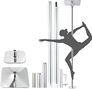 Snail Stripper Pole for Home Indoor 45mm Spinning Static Dancing Pole Portable Adjustable Dancer Pole Kit for Beginners and Professionals Heavy Duty Removable Fitness Exercise Dance Tube for Pub Gym