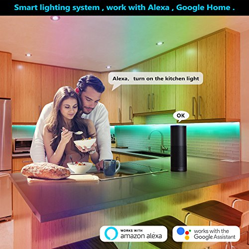 Nexlux LED Strip Lights, WiFi Wireless Smart Phone Controlled Light Strip LED Kit 5050 LED Lights,Working with Android and iOS System,Alexa, Google Assistant by Nexlux (Image #4)'