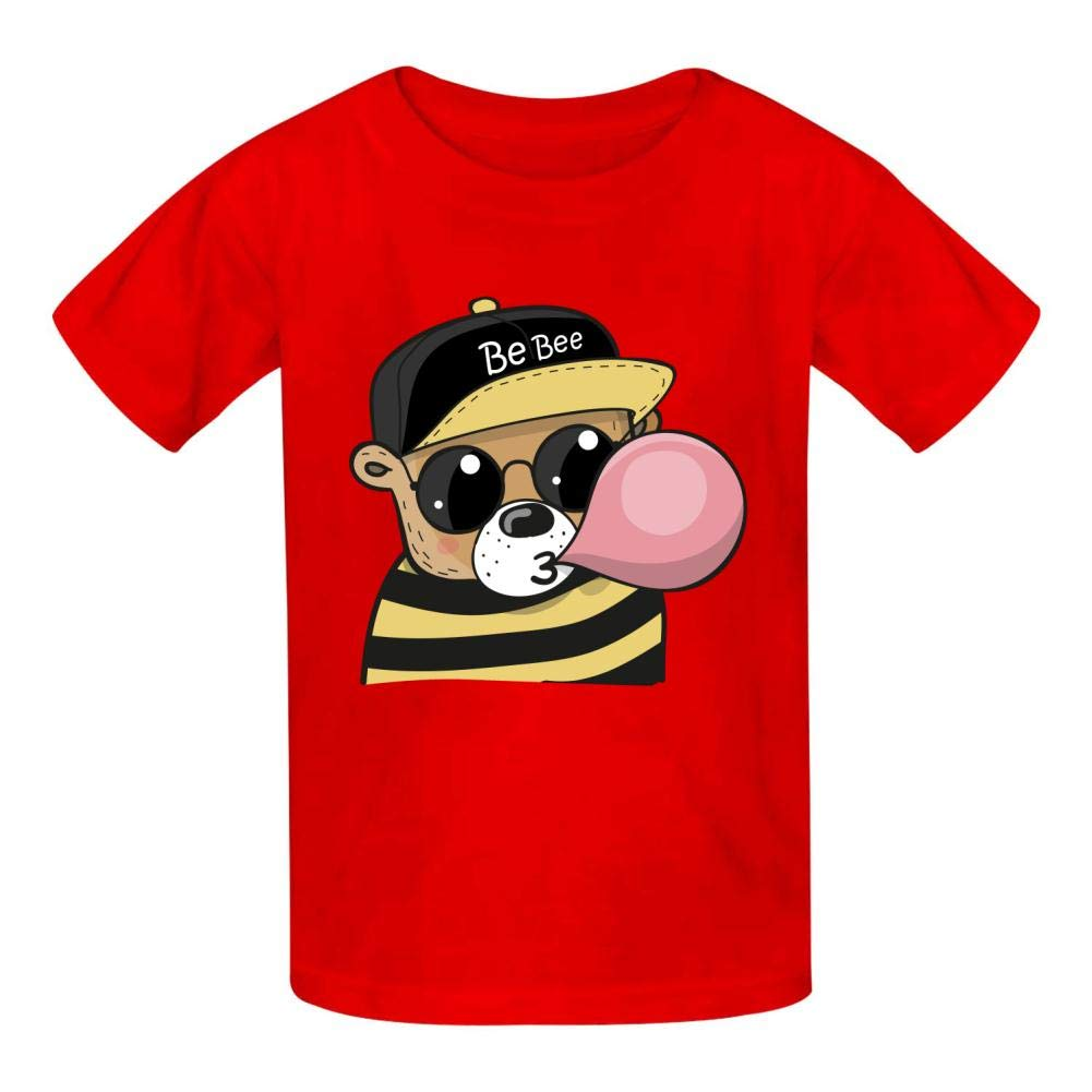 Cool Animal Children and Adolescent 3D Printed Outdoor Short-Sleeved T-Shirt
