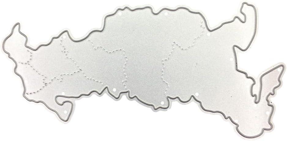 Troqueles para manualidades Mapa, fnkdor troquel troquel Metal ...