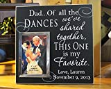 12x12, Dad Of All The Dances We've Shared Together personalized wedding picture frame, fathers day gift, father of the bride picture frame, dad wedding gift, father of bride gift, photo frame