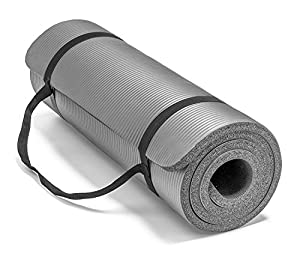 """Spoga Premium Extra Thick 72""""24"""" Long High Density Exercise Yoga Mat with Comfort Foam and Carrying Straps by"""
