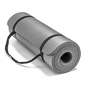 Spoga Premium Extra Thick 72″24″  Long High Density Exercise Yoga Mat with Comfort Foam and Carrying Straps