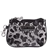 Betsey Johnson Top-Zip Wristlet – Pewter Leopard, Bags Central
