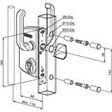 LOCINOX LSKZ4040U2LZILVVSZS Sliding Door Lock
