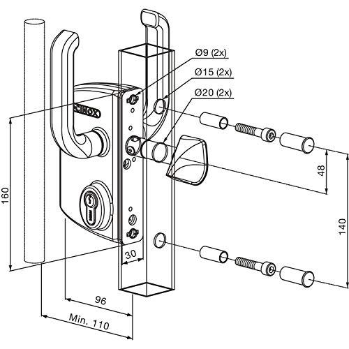 2477204-LOCINOX-LSKZ4040U2LZILVVSZS-Serratura-scorrevole-LSKZ4040U2L-per-tubo miniatura 3