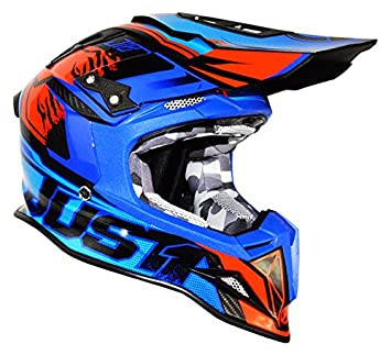 Just1 Dominator Adult J12 Off-Road Motorcycle Helmet - Blue/Red / Large