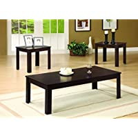 Coaster 700215 Occasional 3-Piece Table Set, Dark Walnut Finish