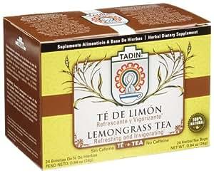 Tadin Tea, Te De Limon (Lemongrass) Tea, 24-Count Tea Bags (Pack of 12)