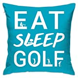 Crazy Popo Eat Sleep Golf Decorative Throw Pillow Covers/Euro Sham/Cushion Sham Square Cushion