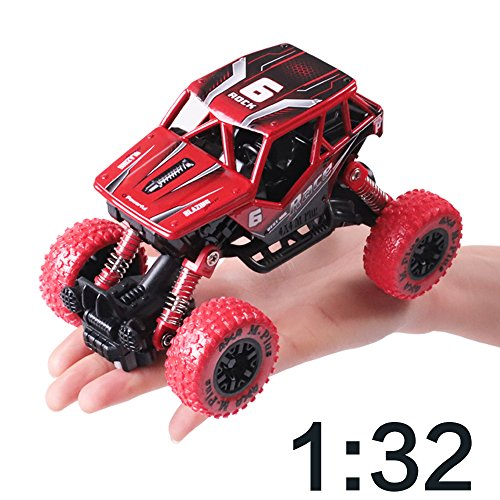 iPlay, iLearn Monster Truck Toys Set, 1:30 Large Pull Back Play Vehicles, Friction Powered, Big Wheels Cars Model, Learning Gift for Age 2, 3, 4, 5, 6, 7 Year Olds, Toddlers, Boys, Girls, Little Kids by iPlay, iLearn (Image #3)
