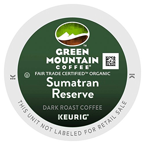 Green Mountain Middling Trade Organic Sumatran Reserve Extra Bold 4 Boxes of 24 K-Cups