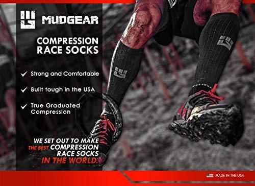 MudGear Premium Compression Socks - Mens & Womens running hiking trail (1 Pair) by MudGear (Image #5)