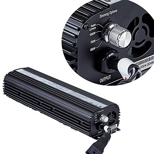 TopoGrow SUPER LUMEN 1000W MH HPS Electronic Ballast for Grow Light Kit W/Fan Inside DiIgital Ballast UL lISTED by TopoGrow