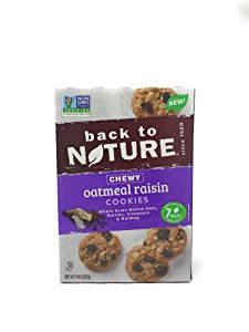 Back To Nature, Chewy Oatmeal Granola Raisin Cookies, 8 Ounce