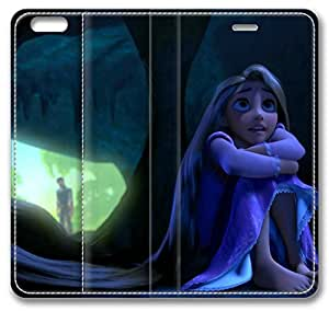 Cartoons Tangled Rapunzel Cave Leather Cover for iPhone 6 4.7 inch(Compatible with Verizon,AT&T,Sprint,T-mobile,Unlocked,Internatinal)