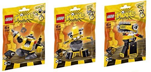 LEGO, Mixels Series 6 Bundle Set of Weldos, Kramm (41545), Forx (41546), and Wuzzo (41547) (Lego Series 1 Set)