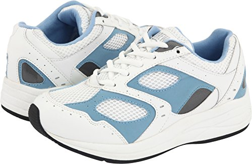(Drew Shoe Women's Flare, White/Blue 7.5 W (D))
