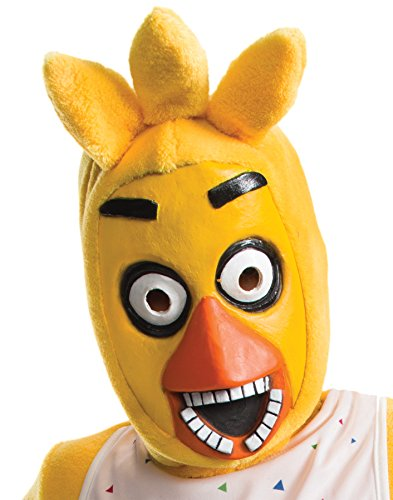 Family Costumes Halloween Person 5 (UHC Girl's Five Nights at Freddy's Chica Child Mask Halloween Costume)