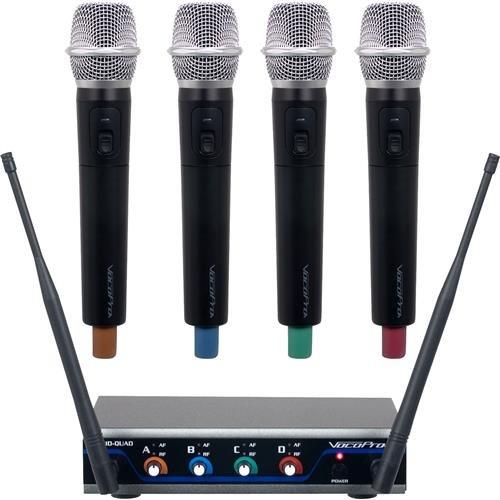 VocoPro 4 Channel, UHF/DSP Hybrid, W/HH Mic System - HYBRIDQUADH1