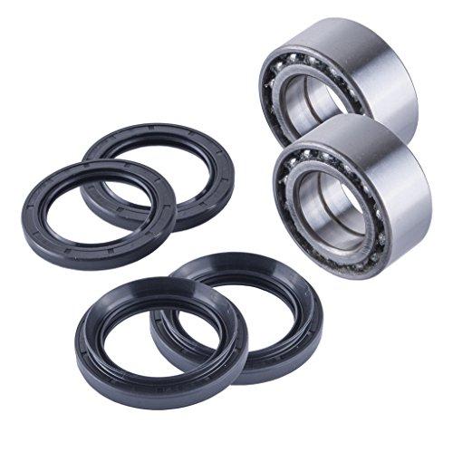 (East Lake Axle Front wheel bearings & seals kit compatible with Honda TRX 400/450 1995 1996 1997 1998-2004)