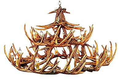 Rustic White Tail 30 Antler Chandelier with 18- 2 Watt Soft White LED Candelabra Bulbs Included (Retail $8.99 Each).