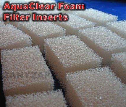 Zanyzap Replacement AquaClear 30 Foam Filter Insert Sponge/AquaClear 150-6 Pack