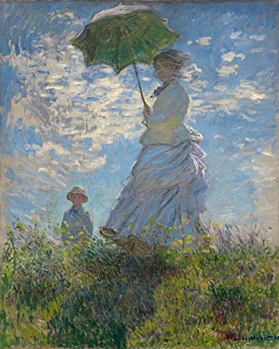 (Oil Painting Reproductions on Canvas Prints,High definition print-Woman with a Parasol by Claude Monet )