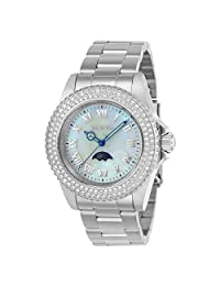 Invicta Women's Sea Base Steel Bracelet & Case S. Sapphire Quartz White Dial Analog Watch 23829