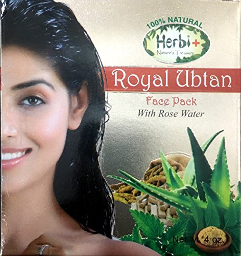 Herbi+ Royal Ubtan Face Pack (4 Oz) With Rose Water (200 Ml) - Combo Pack