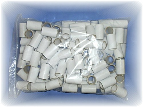 Disposable Cardboard Mouthpieces - Bag of 100 - Exact Size = 1 Inch Outer - Diameter by 2.562 Inches Length.