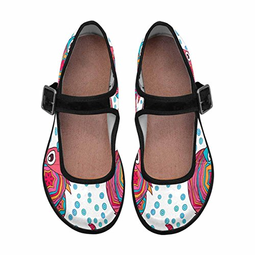 InterestPrint Multi Comfort Mary Flats Womens Jane Casual 1 Walking Shoes rvq8Srwnx