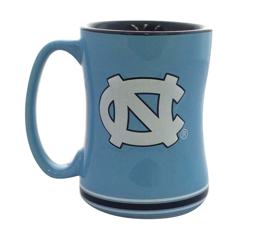 Boelter Brands North Carolina Tar Heels Coffee Mug 14oz Sculpted Relief