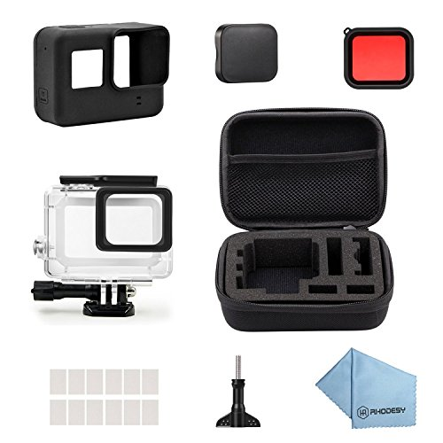 Rhodesy 18 in 1 Protective Waterproof Housing Case Accessories Bundle for GoPro Hero 7 HERO (2018) HD Hero 6 Hero 5 Action Camera