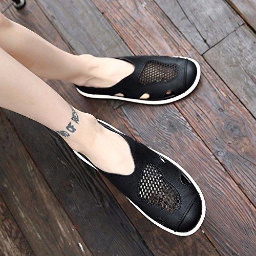 tendenza sandali Uomini Spiaggia Buco scarpa Uomini Antiscivolo sandali ,nero,US=8.5,UK=8,EU=42,CN=43