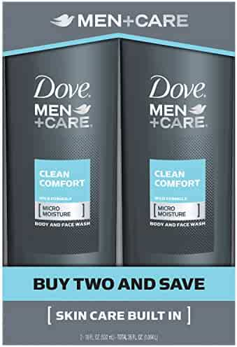 Dove Men+Care Body and Face Wash, Clean Comfort 18 oz Twin Pack