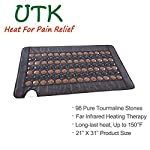 UTK Infrared Heating Pad for Back Pain Relief - Far Infrared Therapy Tourmaline Heating Pads - Medium, Temp Control, Auto Off and Travel Bag Included