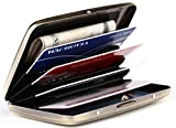 RFID Stainless Steel Wallet Credit Card Holder- Prevent Electronic Credit Card Scan Theft - Cool Slim Design for Men & Women