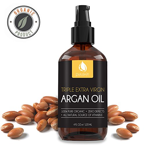 Price comparison product image BEST VIRGIN ARGAN OIL for Beautiful Hair, Face, & Nails, Organic & Pure Moroccan, Works Great with Shampoo, Serums, & Conditioners for Growth, Perfect Moisturizer for Dry & Acne Prone Skin Care, 4 oz.