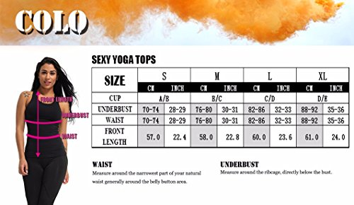 3f522679eba32 COLO Women Yoga Tank Top Workout Tops Open Back Racerback Built in Bra  Removable Pad -