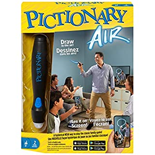 Mattel Games Pictionary Air Family Drawing Game, Links to Smart Devices, 8 Years Old and up