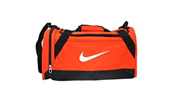 4c3d06ae2dbb Nike Unisex Brasilia 6 Duffel Bag Orange Black White 49cm x 23cm x 22cm